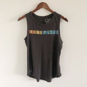 Chaser Pink Floyd Gray Tank Top S 100% Cotton